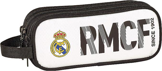 Real Madrid CF ST811854635 Estuche, Niños, Blanca/Negra, 21 cm: Amazon.es: Ropa y accesorios