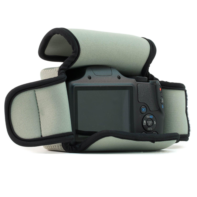 de neopreno SX410 Estuche de c/ámara ultra ligero Gris SX530 HS Canon Power SX420 MegaGear Para Canon Power SX540 HS