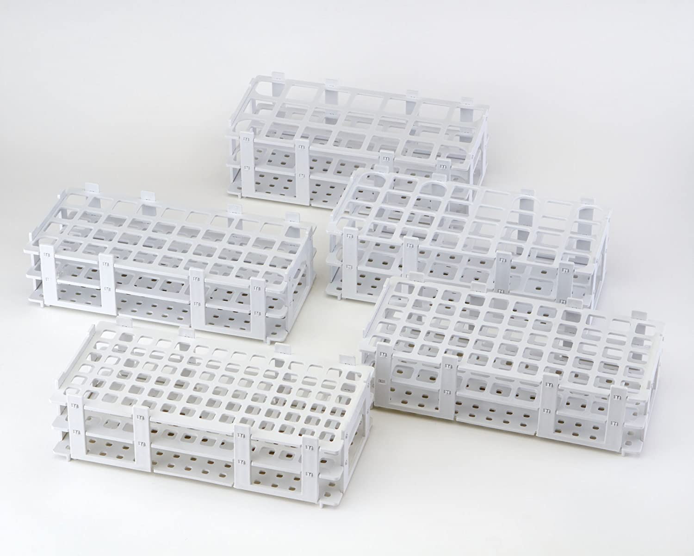 AZLON RPW031P - Porta provette, in plastica/polipropilene, 31 mm, confezione da 5, colore: bianco Duran Inc