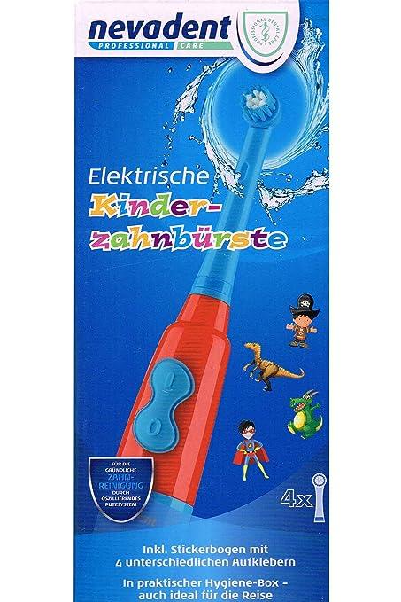 nevadent Cepillo de dientes eléctrico de niños nkz 3 A1 para joven con pegatinas y caja