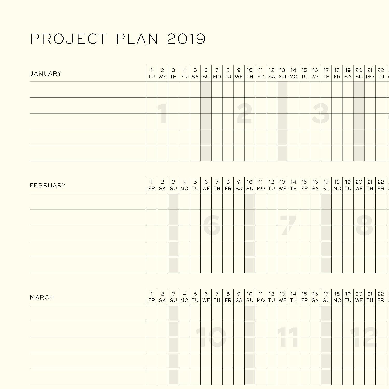 Leuchtturm1917 357807 Weekly Planner & Notebook 2019, Medium (A5), English, Ice Blue