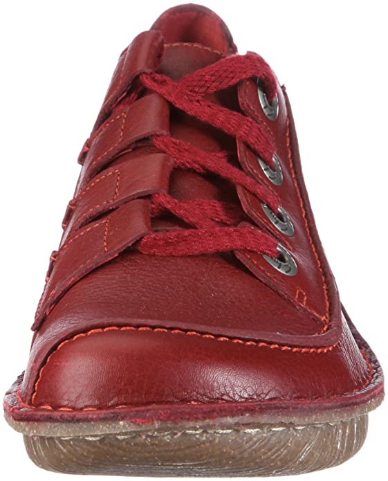 Clarks Funny Story, Mocassins Femme Rouge RotRed
