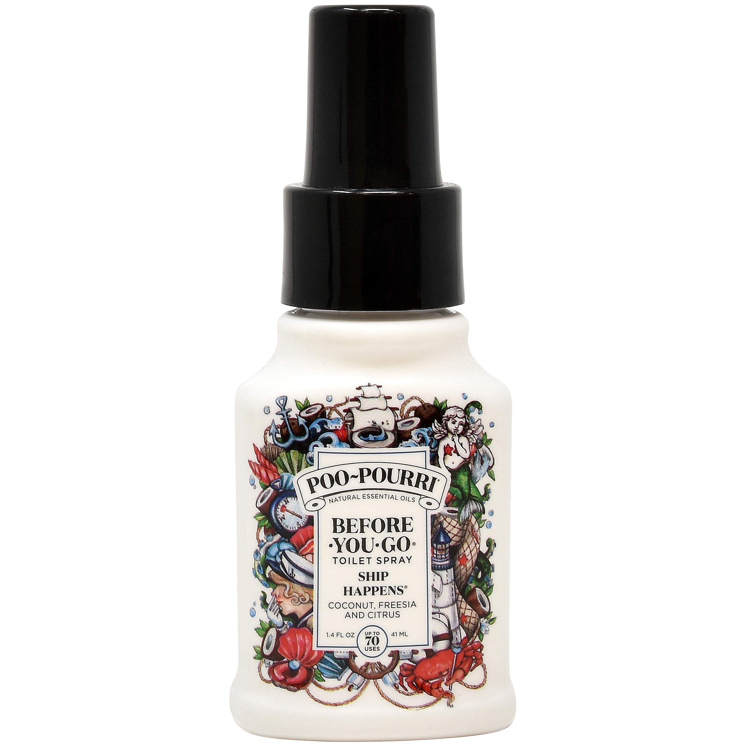 Poo-Pourri in A Pinch Pack Toilet Spray Gift Set, 5 Pack 10 mL, and 1.4 Ounce Ship Happens Bottle by Poo-Pourri (Image #3)