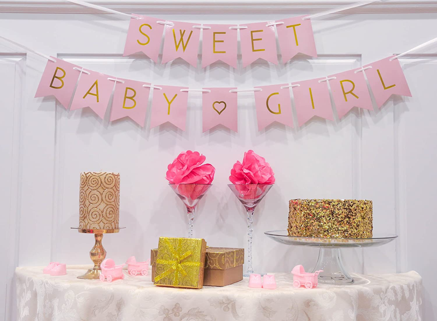 Uncategorized girl baby shower decorations christassam for Home decorations for baby shower