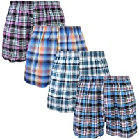 Falari 4-Pack Men's Boxer Underwear 100% Cotton Premium Quality