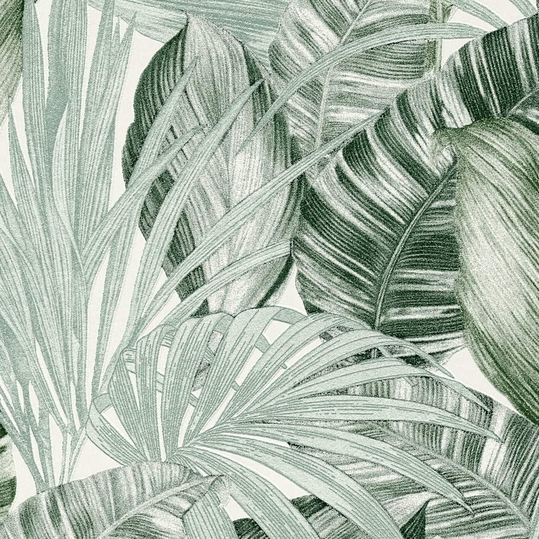 A.S Cr/éation Vliestapete Greenery Tapete in Dschungel Optik mit Palmenbl/ättern 10,05 m x 0,53 m gr/ün Made in Germany 368202 36820-2