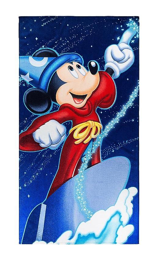 03f1bd344ef347 Disney Parks Fantasia Mickey Mouse Sorcerer's Apprentice Large Bath Beach  Towel NEW
