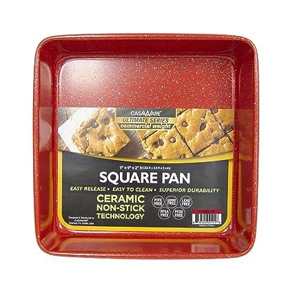 Red Granite casaWare Ceramic Coated NonStick 9in Square Cake Pan