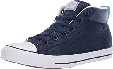 Converse Men's Unisex Chuck Taylor All Star Street Leather Mid Top Sneaker