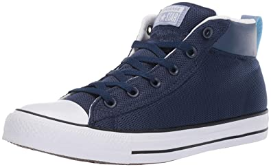 f7823fe1362 Converse Men s Unisex Chuck Taylor All Star Street Leather Mid Top Sneaker