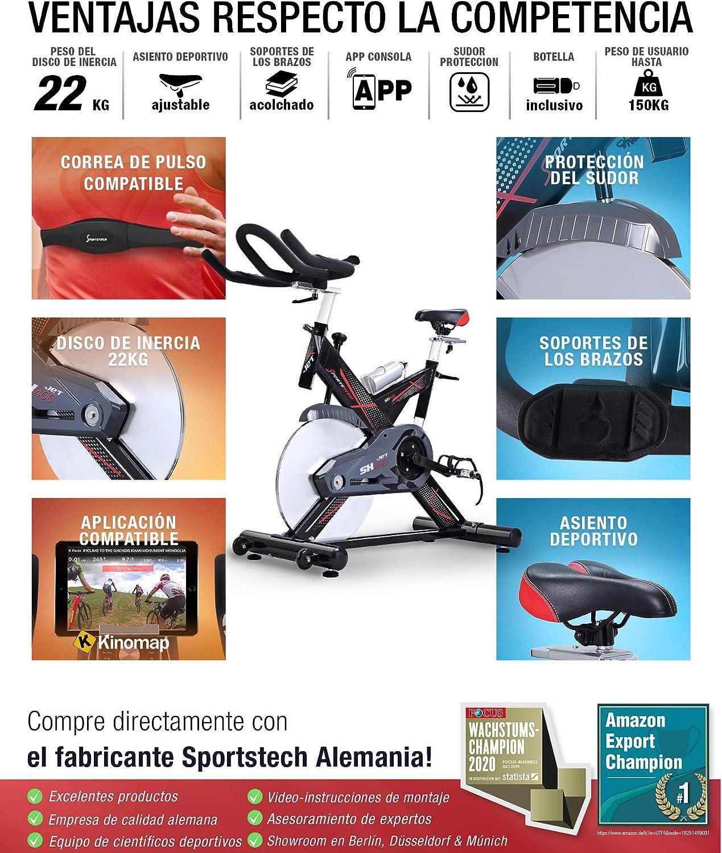 Sportstech SX400 Bicicleta estática Profesional con App Control ...