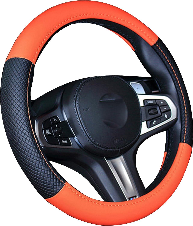 XU-Auto funda para volante de piel aut/éntica Universal Fit 38/cm