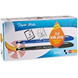 Paper Mate InkJoy 100ST Ballpoint Pen and Touchscreen Stylus, Capped, Business Colors (1924373),Pack of 24
