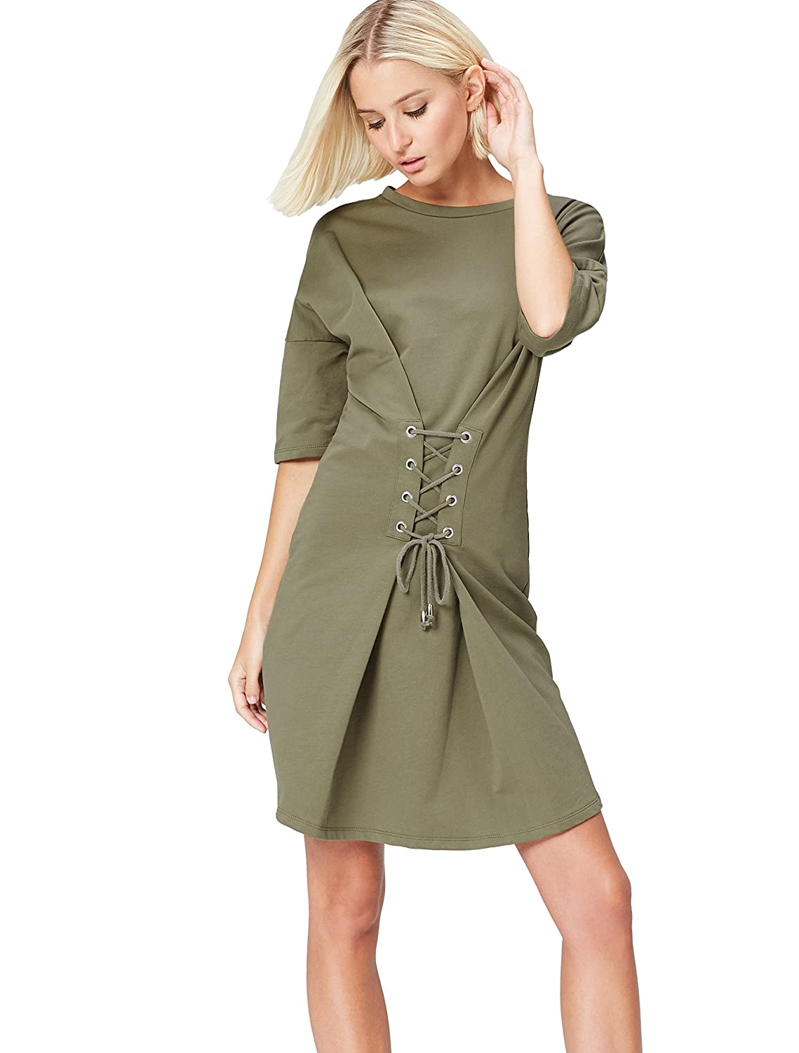 FIND Women's Dress with Corsette and Tie Waist 70499A