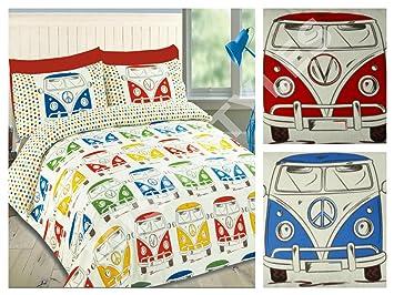 Retro Vw Wohnmobile Multi Bettwäscheset Bettbezug Bettwäsche Set