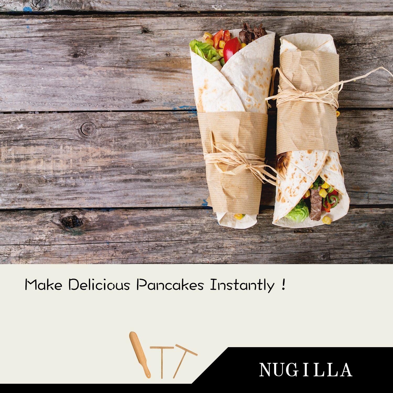 Nugilla Original Crepe Spreader and Spatula Set – 3 Pieces 10-inch Spatula   4.7-inch Spreaders – Premium Beechwood for Crepe Pan Maker/Breakfast Pancakes by Nugilla (Image #6)
