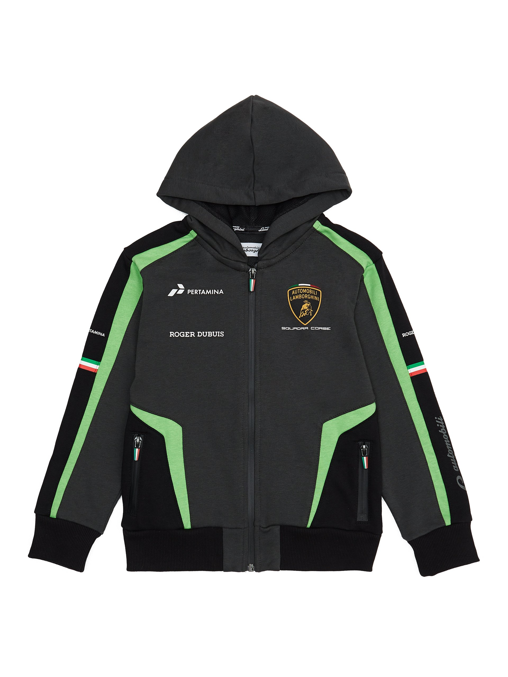Automobili Lamborghini Children Squadra-Corse Lamborghini Kids Hooded Sweatshirt 5-6 Years Black