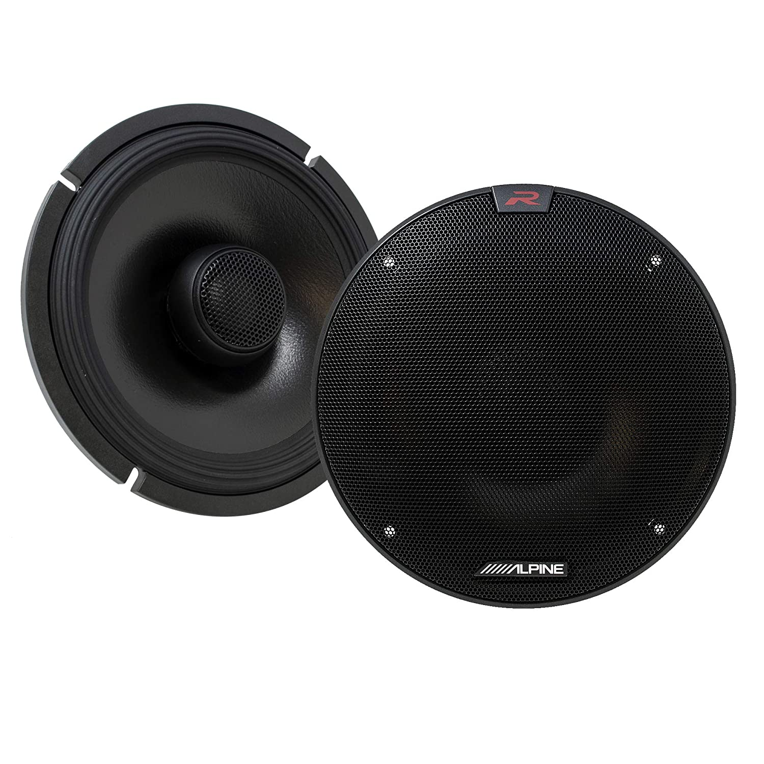 Pair Alpine R-S65.2 R-Series 6 1//2-inch Coaxial 2-Way Speakers