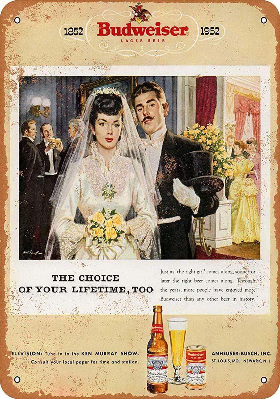 Hunnry Beer Marriage Póster De Pared Metal Vintage Placa ...