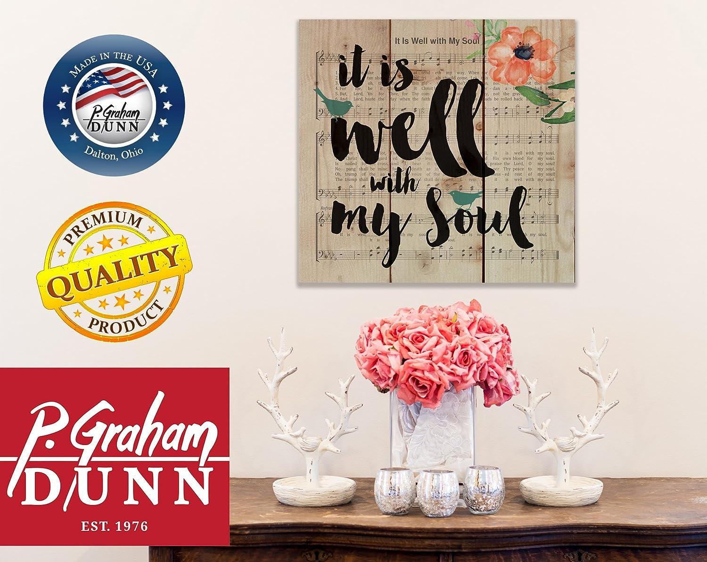 Graham Dunn It is Well with My Soul Sheet Music Design 10 x 10 Wood Pallet Design Wall Art Sign Plaque PNL0354 P