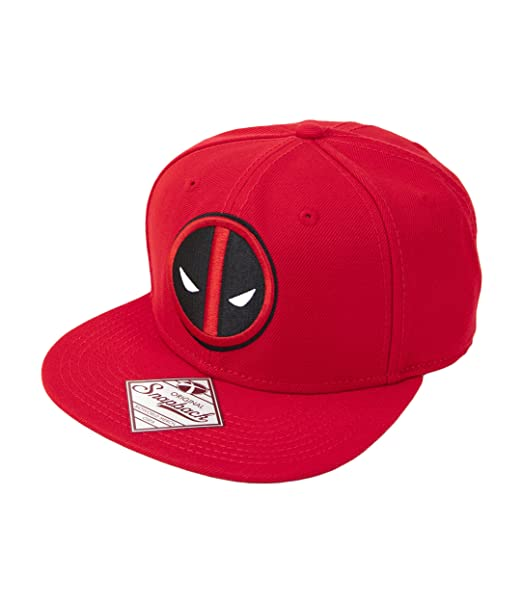 2b72025fb1e Image Unavailable. Image not available for. Color  Marvel Deadpool Logo  Snapback Baseball Cap