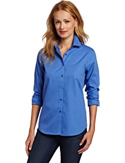 d431544ef9 Jones New York Women s Signature Solid Easy Care Shirt