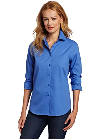 e641e94a4 Jones New York Women's No-Iron Easy Care Shirt at Amazon Women's Clothing  store: Button Down Shirts