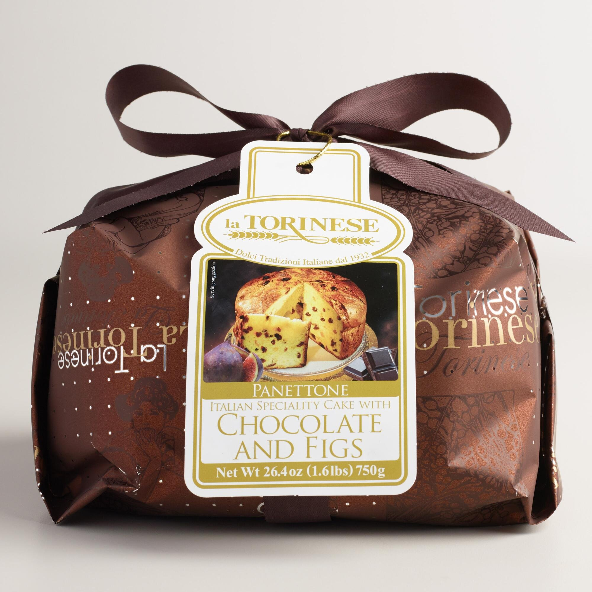 La Torinese Chocolate and Fig Panettone, 26.4-ounce (750g)