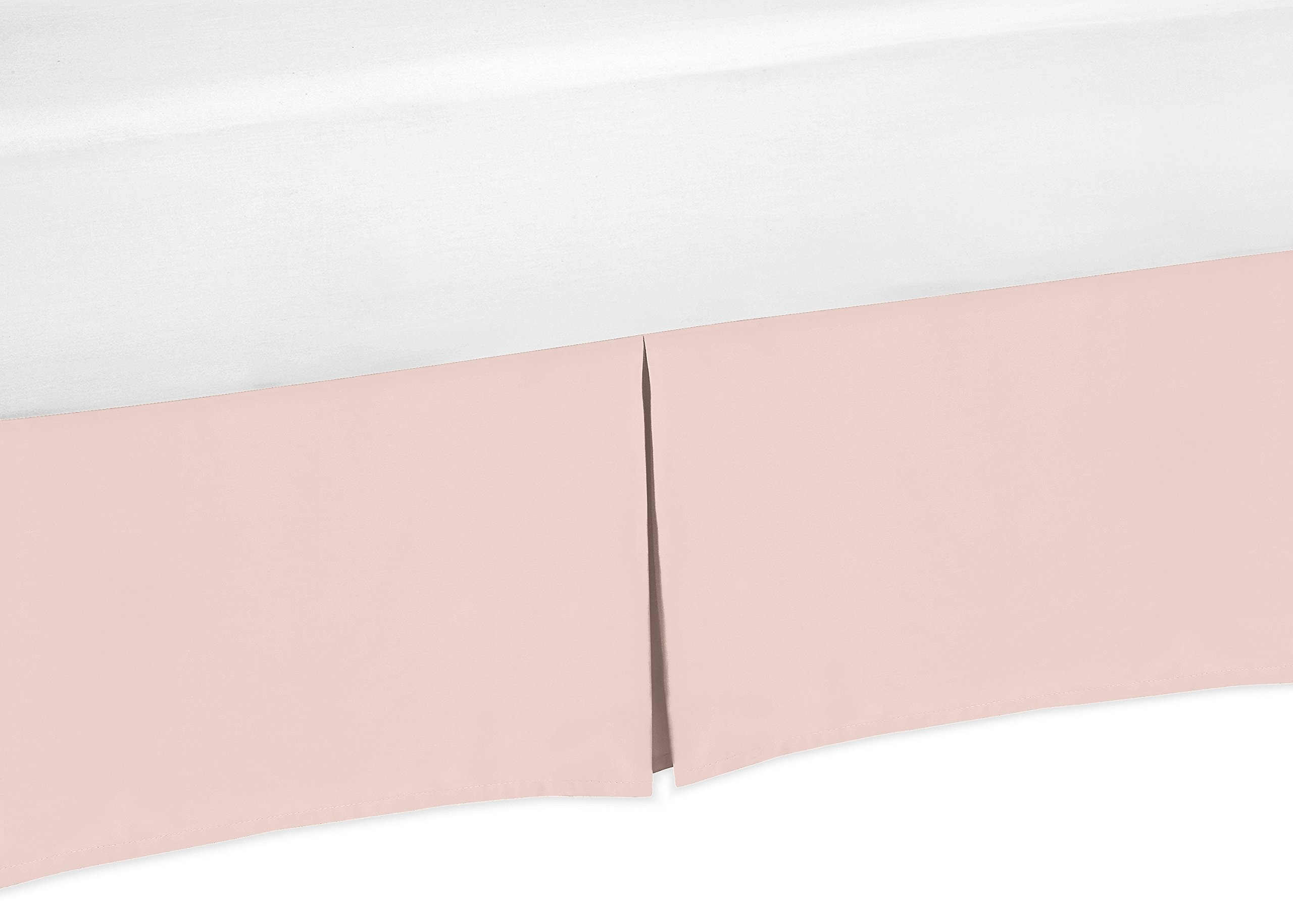Sweet Jojo Designs Blush Pink Baby Girl Pleated Crib Bed Skirt Dust Ruffle for Bedding Collections by Sweet Jojo Designs