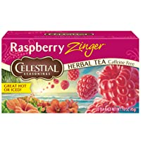 6-Pack Celestial Seasonings Raspberry Zinger Herbal Tea, 20 Count