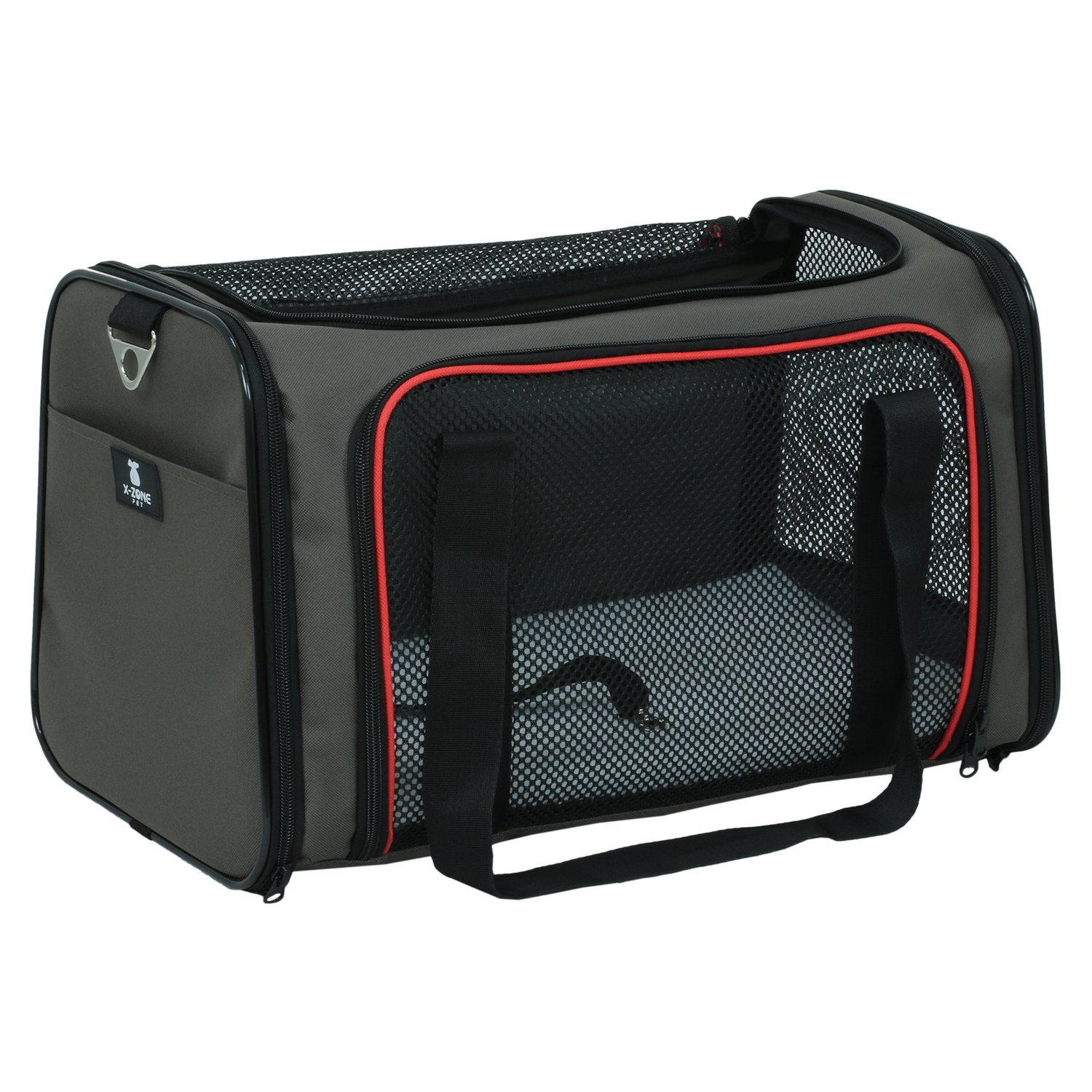 X-ZONE PET Airline Approved Pet Carriers, Soft Sided collapsible Pet travel Carrier for medium puppy and cats