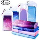 SYOURSELF Cooling Towel for Instant Relief - Cool Bowling Fitness Yoga Towels -100cm x 30cm Use as Cooling Neck Headband Bandana Scarf Stay Cool for Travel Camping Golf Football &Outdoor Sports