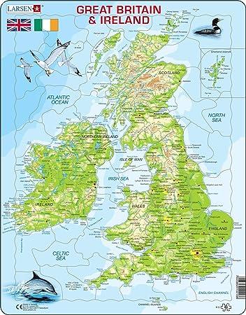 Cartina Politica Dell Irlanda.Larsen K5 Mappa Fisica Della Gran Bretagna E Dell Irlanda Edizione Inglese Puzzle Incorniciato Con 80 Pezzi Amazon It Giochi E Giocattoli