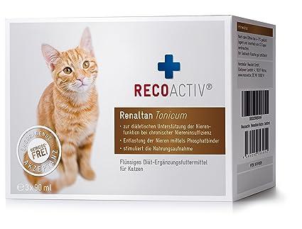 RECOACTIV® Renaltan® Tonicum für Katzen - mit Phosphatbinder (Kurpackung 3 x 90 ml)