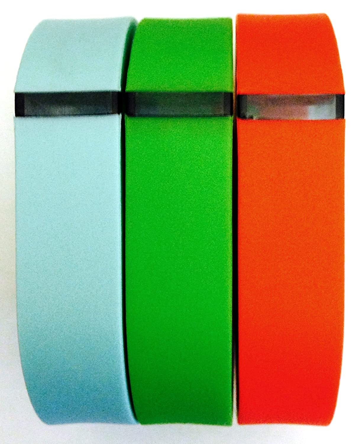 Small S 1pc Green 1pc Teal (Blue/Green) 1pc Red (Tangerine) Replacement Bands + 1pc Free Small Grey Band With Clasp for Fitbit FLEX Only /No tracker/ Wireless Activity Bracelet Sport Wristband Fit Bit Flex Bracelet Sport Arm Band Armband