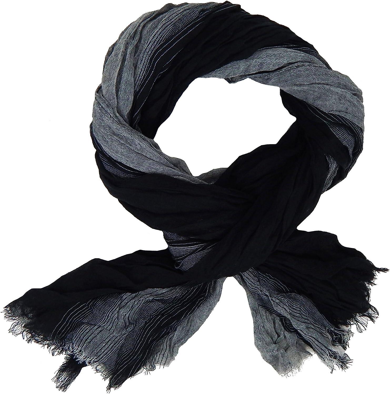 Ella Jonte Herrenschal schwarz grau Viskose Casual schwarzer Schal neue Saison