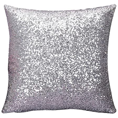 cushion glitter sequins pillow case cafe home cushion cover amazon