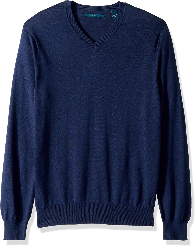 Perry Ellis Men's Classic Solid V Neck Sweater