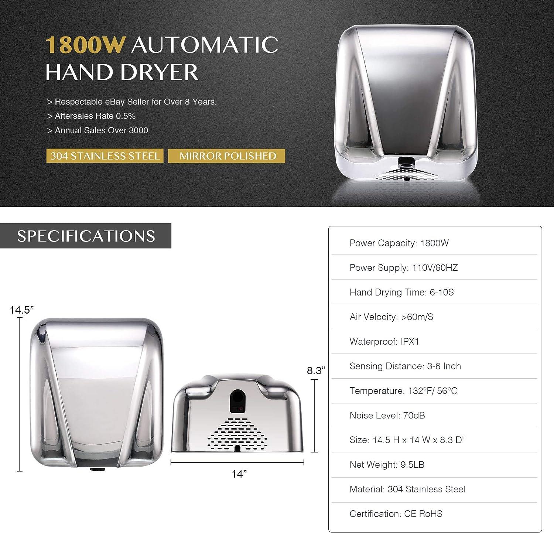 Home & Kitchen Hand Dryers moonsoft-dz.com Heavy-Duty Wall Mounted ...