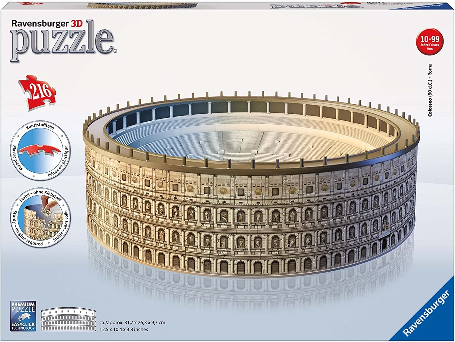 f4A Ravensburger Italy Puzzle 3D Eiffel Tower-Edizione Speciale Notte 216