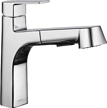 Peerless P6919LF Xander Single Handle Pullout Kitchen Faucet, Chrome ...