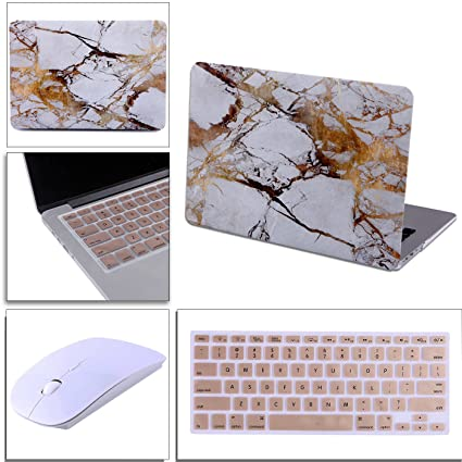 huge selection of 01ed1 9ae62 HDE White and Gold Marble MacBook Air 13