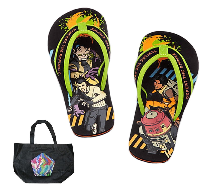 2 Piece Gift Set Star Wars Rebels Little Boys Flip Flops and Tote
