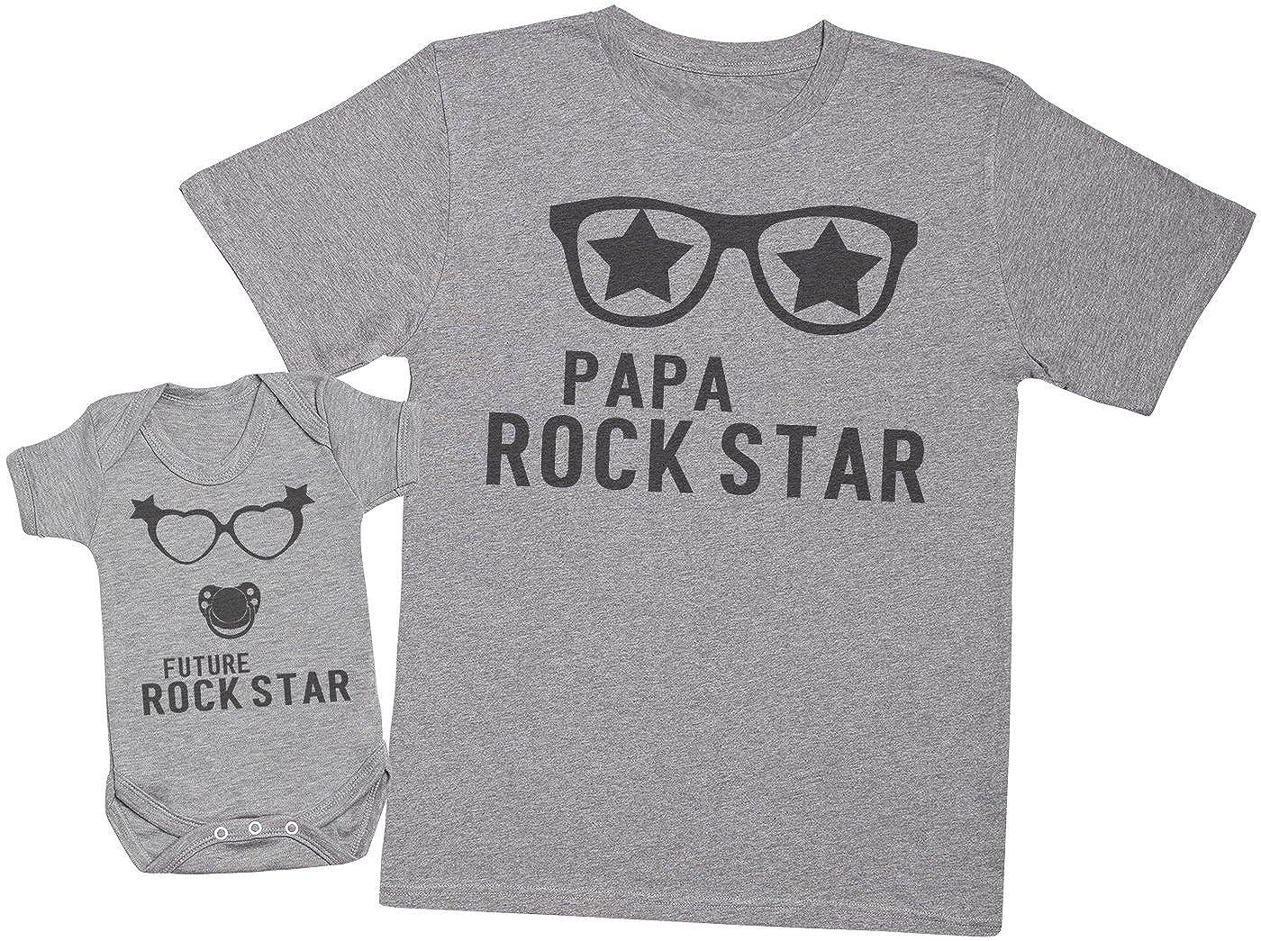 Ensemble P/ère B/éb/é Cadeau Future Rock Star Fille Hommes T-Shirt /& Body b/éb/é