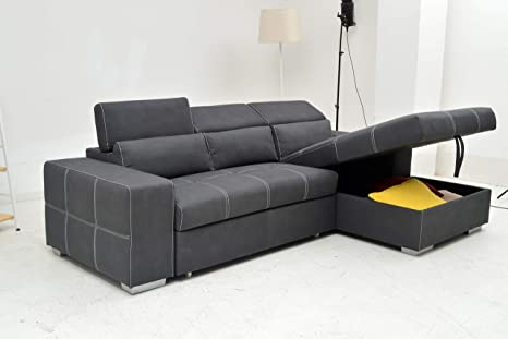 VITORIO DIVANI Sectional Couch with Pull-Out Sofa Bed and Storage -  Reversible Chaise | 3-Seater - Modern Minimalistic Design | Lovely to The  Touch ...
