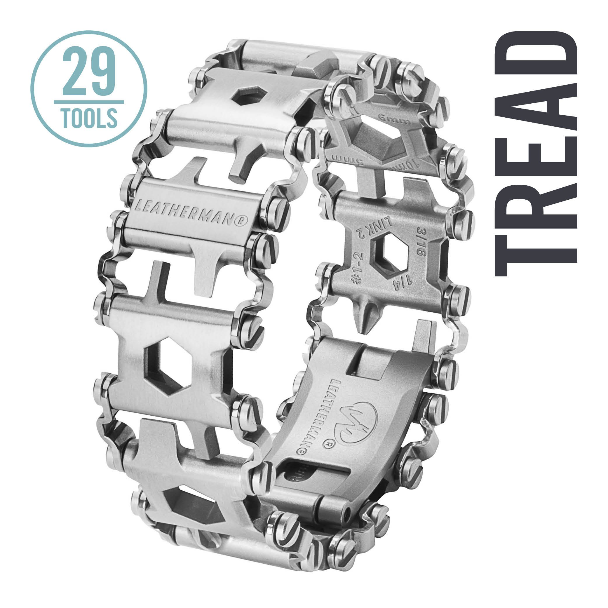 Leatherman - Tread Bracelet, The Travel Friendly Wearable Multitool, Stainless Steel