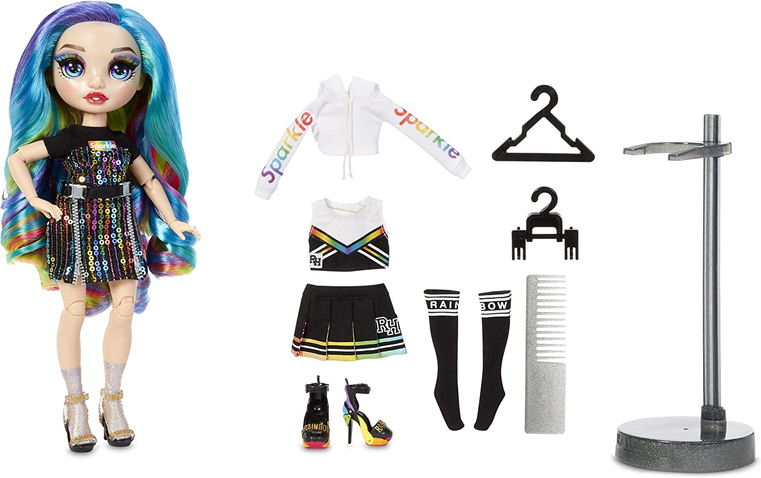 Rainbow High Amaya Raine – Rainbow Fashion Doll with 2 Complete Doll Outfits to Mix & Match and Doll Accessories, Great Gift for Kids 6-12 Years Old