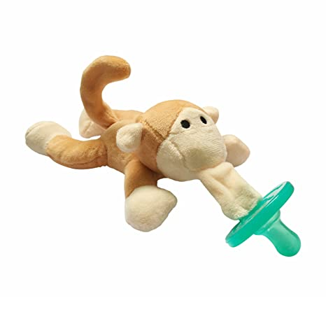 vonisa bebé chupete de peluche de animal mono soporte de los ...