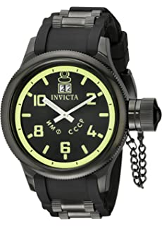515256417f8 Amazon.com  Invicta Men s 4342 Russian Diver Collection Black Sport ...
