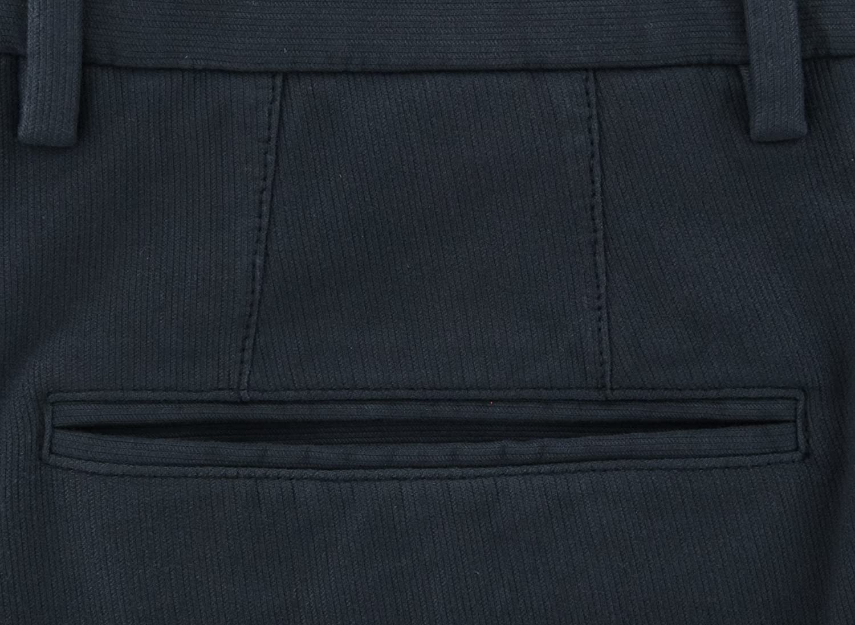 Incotex Dark Blue Solid Pants Slim